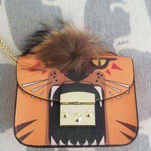 Handbags - Orange animal crossbody bag new